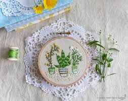 embroidery art christmas decoration craft kit houseplants