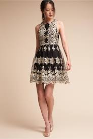 black and gold dress flourish dress black gold in occasion dresses bhldn