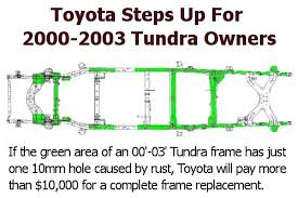 2001 toyota sequoia frame recall toyota launches tundra frame replacement program tundra