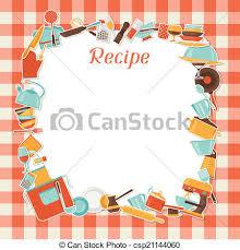 dessin recette de cuisine recette cuisine utensils fond restaurant clip vectoriel