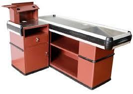 Metal Shop Desk Oem Metal Supermarket Checkout Counter Shop Cash Counter Without