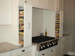 upper cabinet pull out spice rack top base kitchen slide in