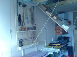 Overhead Storage Bedroom Furniture by Custom Diy Wood Folding Garage Ceiling Storage Shelves For Tools Ideas