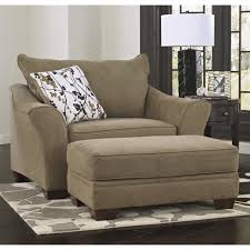 oversized fabric chair with ottoman ashley mykla fabric oversized chair with ottoman in shitake