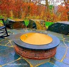 Custom Fire Pit Covers by Custom Fire Pit Covers Spark Screens Stainless Steel Fire Pit