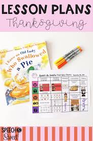 thanksgiving themed lesson plans great ideas for speech therapy