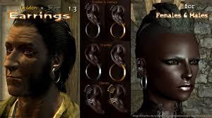 skyrim earrings hn66 s earrings special edition at skyrim special edition nexus