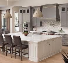 grey style kitchen design with art deco backsplash kitchens