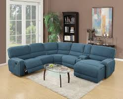 Sofa With Chaise And Recliner by Becker Blue Fabric Home Theatre Motion Sofa Sectional Recliner Set