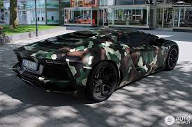 lamborghini aventador wrap lamborghini aventador with jungle camouflage wrap