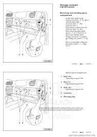 audi a3 2000 8l 1 g general body assembly interior workshop manual