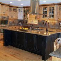 Black Rustic Kitchen Cabinets Furniture For Rustic Kitchen Design And Decoration Using