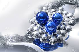 modern style decoration setup with blue balls
