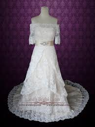 wedding dress overlay vintage style the shoulder lace overlay wedding dress with