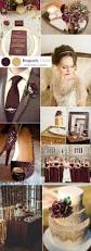 six beautiful burgundy wedding colors in shades gold gold