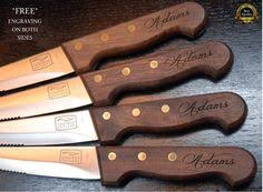 wedding gift knives steak knife set of 8 personalized steak by kottageinspirations
