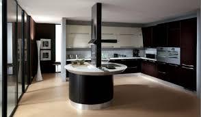 ilot rond cuisine design interieur cuisine bois noir îlot rond design plans blancs
