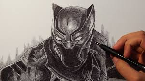 black panther captain america civil war drawing youtube