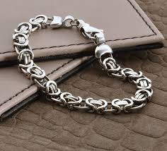 silver chain bracelet men images Silver bracelets for men mens heavy silver chain detail bracelet jpg