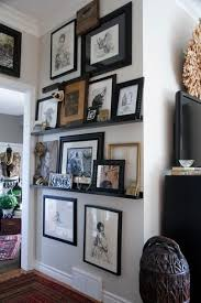 narrow picture ledge picture ledge shelves mad about the house