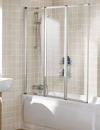 lakes classic framed triple panel bath shower screen 1390mm silver