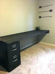 Diy Desk With File Cabinets File Cabinet Desk Motauto Club