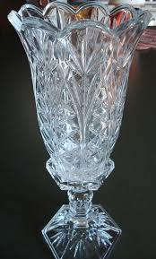 Crystal Candle Sconces Vintage Crystal Candle Holder Vase Two Piece Set Pillar