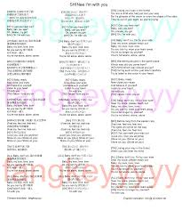 M Me In English - shinee i m with you english lyrics 歌詞 fang