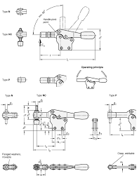 gn 820 1 horizontal acting toggle clamps with vertical mounting