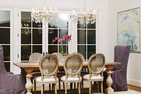 Dining Room Crystal Chandelier by Farm House Table Dining Room Beach With Beam Ceiling Chandelier