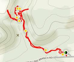 kilgore map falling branch trail to kilgore falls maryland alltrails com