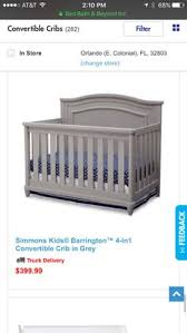 Simmons Convertible Crib Simmons 3 In 1 Crib In White Grey Gray And Nursery
