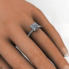 cushion engagement rings ring 25 carat cushion cut neo moissanite and diamond 2 5