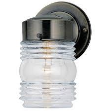 jelly jar light fixture westinghouse lighting corp 66839 ab jelly jar fixture wall porch