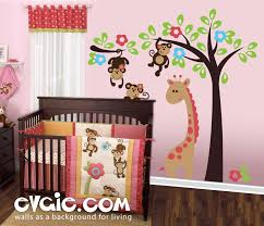monkeys on the tree nursery safari wall decals evgienev a monkeys on the tree nursery safari wall decals evgienev