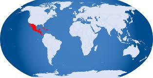 mexico in the world map world globe highlight mexico and cuba clip at clker