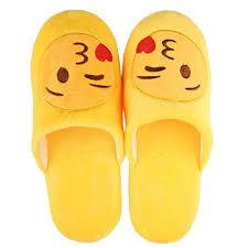 house emoji unisex warm winter slippers emoji cute cartoon soft indoor house