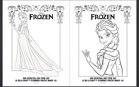 frozen coloring pages and activity sheet printables