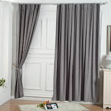 Gray Curtains For Bedroom Two Panels Solid Grey Bedroom Curtains