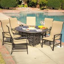 Patio Dining Table Set Dining Table Deluxe Design Patio Furniture Set Fire Pit Pillows