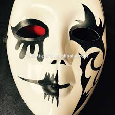 2017 colored drawing ghost mask masquerade mask party hand painted