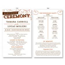 wedding program wedding programs stationery the american wedding