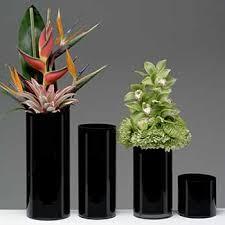 Black Square Vases Containers U0026 Vases Containers Glassware Glass Vases Black
