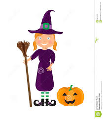 red witch halloween costume little witch in a halloween costume stock illustration