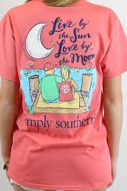 simply southern sleeve t shirt preppy live by the sun