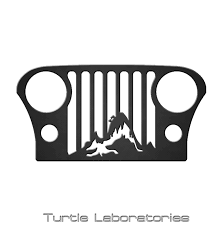 jeep cj grill logo jeep cj grill mountain scene metal art