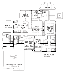 Cottage Floor Plans With Screened Porch House Floor Plans With Screened Porch