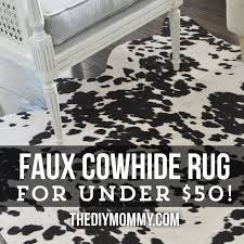 stylish design ideas fake cowhide rugs fine faux cowhide rug black