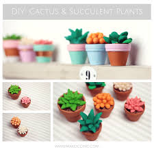 polymer clay home decor diy cactus succulent plants using polymer clay super fun and