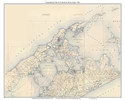 Map Of Long Island New York old usgs topo maps long island town composite maps